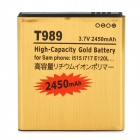 "T989-GD 3.7V ""2540mAh"" Li-ion Battery for Samsung  i515 / i717 / E120 / i547 / T989 + More - Golden"