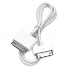 30-Pin Apple Male to Male iPad to iPod / iPhone Camera Connection Cable - White (60cm)