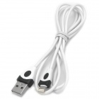 FTX USB Male to 8 Pin Lightning Charging Data Cable for iPhone 5 + iPad 4 - White (100 CM)