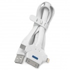 Lidu USB to 8 Pin Lightning / 30 Pin / Micro USB Flashing Data Cable for iPhone + Samsung - Grey