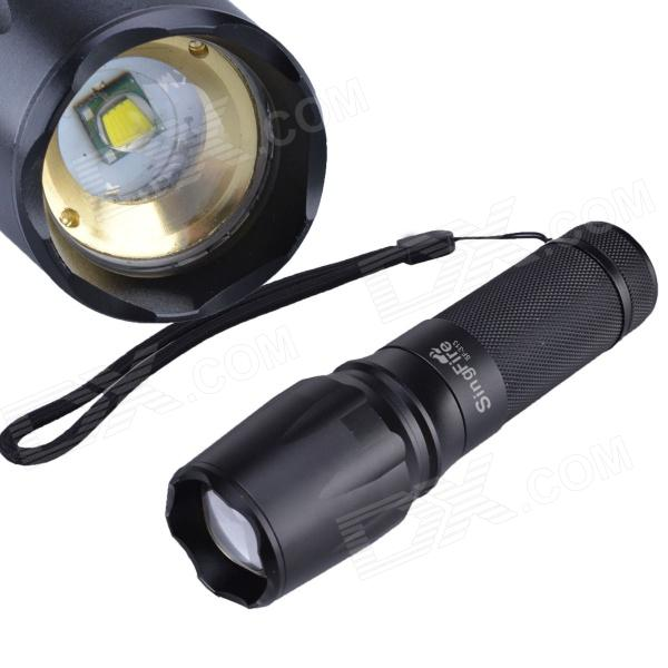 SingFire SF-313 600lm White 5-Mode Zooming Flashlight w/ Cree XM-L T6 - Black (1 x 26650)