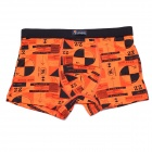 Soft Breathable Modal Fabric + Cotton Men's Boxers Underwear - Orange  (Free Size)
