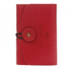 LGTT-1574 Fashionable PU Leather Card Case Holder for Women - Wine Red (20 Sheets)