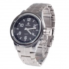ORKINA W007 Fashionable Men's Quartz Wrist Watch w/ Simple Calendar - Silver + Black (1 x LR626)