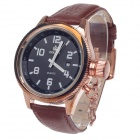 ORKINA W007 Stylish Men's Quartz Wrist Watch w/ Simple Calendar - Copper + Brown + Black (1 x LR626)