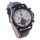 ORKINA MG048 Fashionable Men's Mechanical Analog Wrist Watch w/ Simple Calendar - Black + White