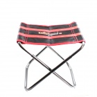 Outdoor RJ-408 Portable Folding Camping Fishing Stool - Black + Red + Silver