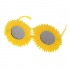 Decorative UV400 Sunflower Style Glasses - Yellow