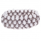 Retro Multilayer White Crystal Wide Women's Bracelet - White + Silver