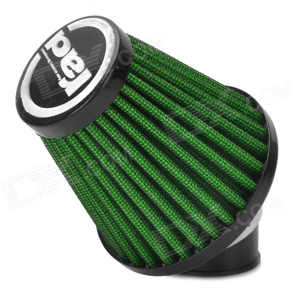 Rad Universal Replacement 35mm Caliber Air Filter for Motorcycle / Scooter - Green + Black epman universal 3 aluminium air filter turbo intake intercooler piping cold pipe ep af1022 af