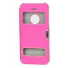 S-108 Flip-Open Protective Plastic Case w/ Visual Window for Iphone 5C - Deep Pink