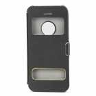 S-108 Flip-Open Protective Plastic Case w/ Visual Window for Iphone 5C - Black