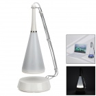 Rechargeable 2W 180lm 6000K 12-LED White Light Table Lamp w/ Mini Speaker - White