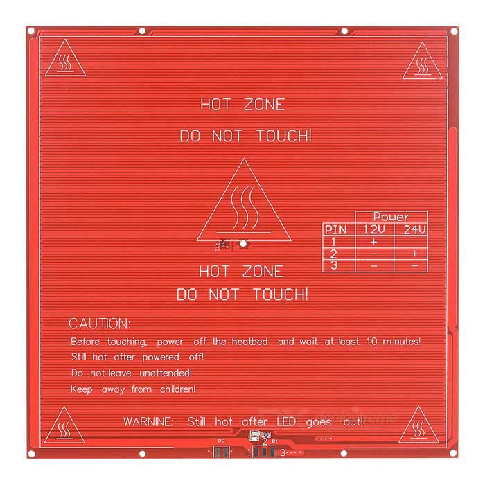 Heacent 3DP006B DIY 12 / 24V Dual-Power MK2B Heated Bed Board for RepRap 3D Printer - Red + White rq cr 10 3d printer large printing size 300 300 400mm diy desktop 3d printer diy kit filament with heated bed 200g material
