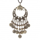 Fashionable Zinc Alloy Beads + Small Elephant Pendant Style Necklace for Women - Bronze + Brown
