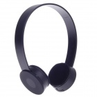 K20 Fashionable Wired Stereo Headset for iPod / iPhone / iPad - Black (3.5mm Plug / 111cm-Cable)