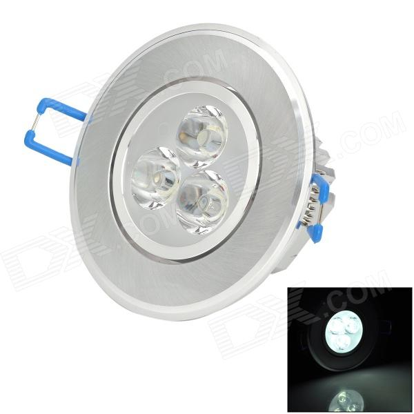 JZ-3W 3W 270lm 6500K White Light Ceiling Lamp - Silver + White