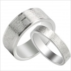GJ043 Trendy Style Bible Titanium Steel Couple Rings - Silver (Men 9 / Women 7 / Pair)