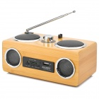 PHL.NPS UM89 Portable 2-Channel Media Player Bass Speaker w/ SD - Yellow + Black + Silver