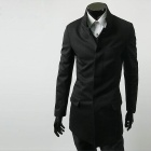 Chinese Tunic Suit / Jacket for Men - Black (Size-XL)