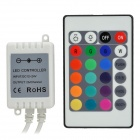 SZJM11 Infrared 24-Key LED RGB Light Remote Controller - White (1 x CR2025)