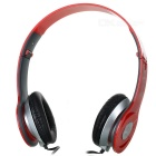 Aonange OV-X1 Stylish Stereo Headphones w/ Microphone - Red + Silver + Black (3.5mm Plug / 1.2m)
