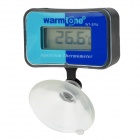 Warmtone WT-896 Waterproof Digital Thermometer for Fish Tank / Aquarium - Black + Sky Blue + Blue