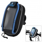 YONGRUIH AB1 Bike Handlebar Mobile Phone Bag w/ Transparent Window - Blue + Black