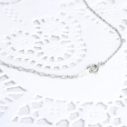 KCCHSTAR 18K Zinc Alloy One-Carat Artificial Diamond Pendant Necklace - Silver