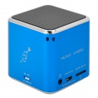 Music Angel Portable Rechargeable Media Player 2-Channel Speaker w/ TF - Blue + Silver + Black