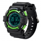 Sunroad FR822B Multifunction Digital Sports Watch w/ Altimeter / Compass / Barometer - Black + Green