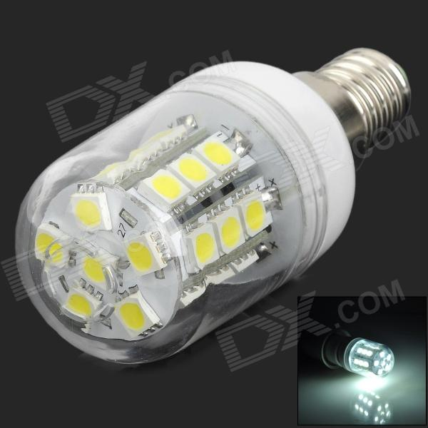 E14-3W-W-270 E14 3W 270lm 7000K 27-LED Cold White Light BulbE14<br>ModelE14MaterialPlasticForm  ColorWhiteQuantity1Power3WConnector TypeE14Emitter TypeLEDTotal Emitters27Color BINWhiteDimmableNoWavelengthNoPacking List1 x Bulb<br>