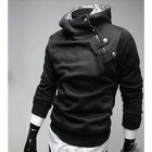 Fashionable Men's Slim Fit Hooded Fleece - Black (Size-XL)