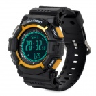 Sunroad FR820B Multifunction Digital Sports Watch w/ Altimeter / Compass/ Barometer - Black + Yellow