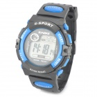 SYNOKE 99269 Sports Multifunction Rubber Band Waterproof Digital Wrist Watch - Black + Blue
