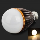 JR-E27-7W-WW E27 7W 600lm 3300K 7-LED Warm White Light Bulb - White + Golden + Silver