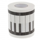 Novelty Piano Keys Pattern Toilet Paper 3-Layer Roll Tissue - White + Black