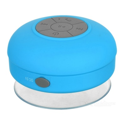 Silicone Bluetooth v3.0+EDR 2-CH Speaker w/ Suction Cup - Blue + Grey