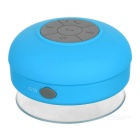 Water Resistant Silicone Bluetooth v3.0 + EDR 2-Channel Speaker w/ Suction Cup - Blue + Grey