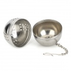 Stainless Steel Seasoning Filter Ball w/ Hanging Hook - Silver