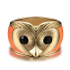 eQute BPEW18C13 Vintage Novelty Cute Owl Face Zinc Alloy Women's Bracelet - Orange + Black + Golden