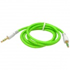 JJBY 3.5mm Male to Male Aux Car Audio Cable - White + Green