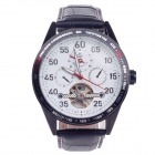 ORKINA MG053 Double-Sided Hollow Style Automatic Mechanical Analog Men's Wrist Watch - Black + White