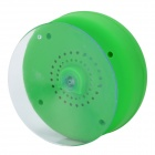 Silicone Bluetooth v3.0+EDR 2-CH Speaker w/Suction Cup - Green + Grey
