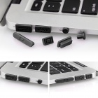Enkay Universal anti-pó Plugs para MacBook Pro com Retina Display / MacBook Air - Black (10 PCS)