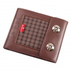 Fashionable Innovative PU leather Men's Wallet - Brown