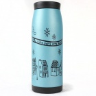 Triumphal Arch Pattern Stainless Steel Vacuum Bottle - Blue (500ml)