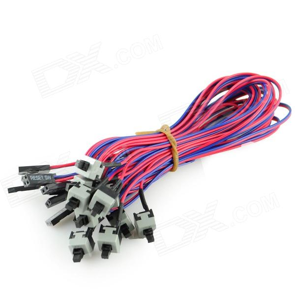 chassis power switch kabel rot blau schwarz 50cm 10 pcs extream deals. Black Bedroom Furniture Sets. Home Design Ideas