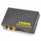 HDMI Splitter / Digital Audio Converter / Analog Audio Decoder - Black + Yellow (1-In / 2-Out)