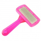 Grooming Hair Needle Comb for Dog Cat Pet - Deep Pink